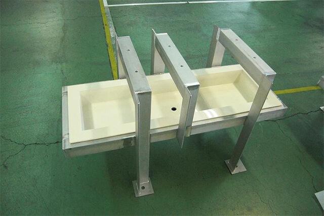 水処理施設用架台の写真
