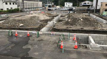 海崎工場 - 新建屋基礎工事完了