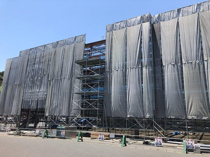 海崎工場 - 新建屋鉄骨工事完了